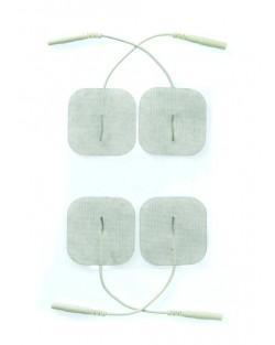4 Piastrine Adesive ElettroShock Bianco