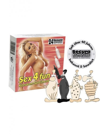 Sex 4 Fun Profilattici 24pz
