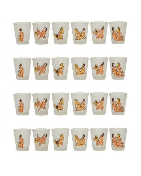 6 Bicchierini Kamasutra Trasparente