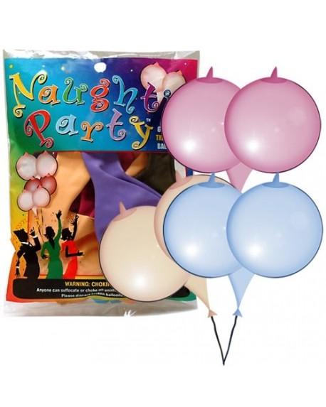 Palloncini a Forma di Seno 6pz Vari Colori