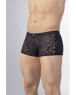 Pantaloncini Ricamati Nero Trasparente