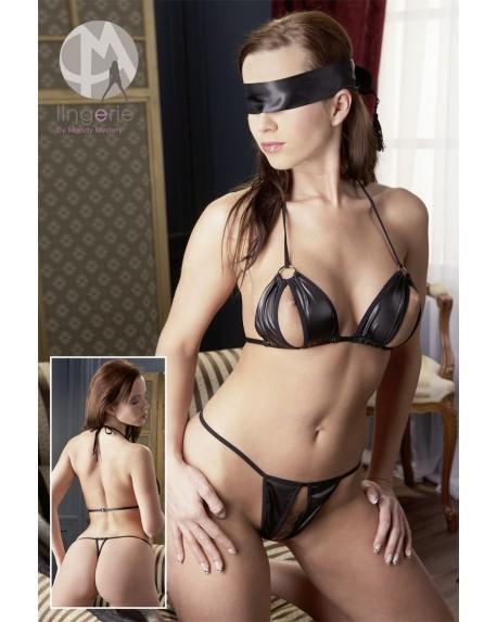 Bikini con Benda Nero