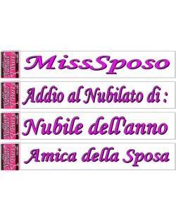 Fascia Nubilato Party MissSposo