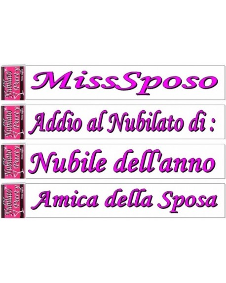 Fascia Nubilato Party MissSposo