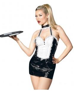 Cameriera Sexy Nero Vinile
