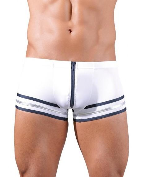 Pantaloncini con zip Bianco