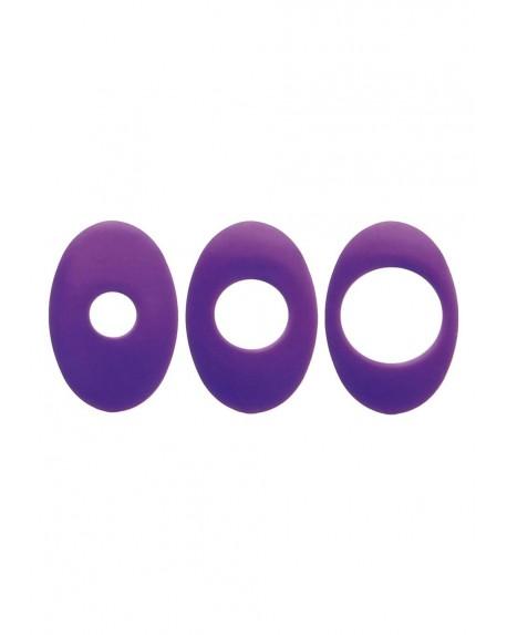 3 Anelli Blocca-vibratore Viola