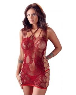 Mini abito trasparente Rosso