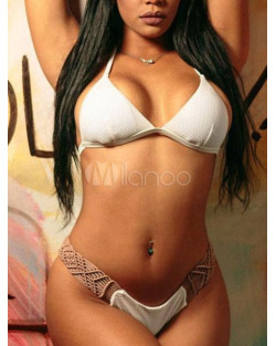 Bikini tessuto Bianco Cotone