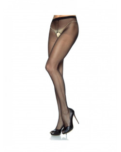 Leg Avenue - Curvy - Collant Aperti Nylon Nero