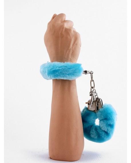 Manette Peluche Love Cuffs Celeste