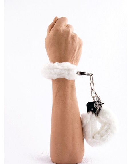 Manette Peluche Love Cuffs Bianco