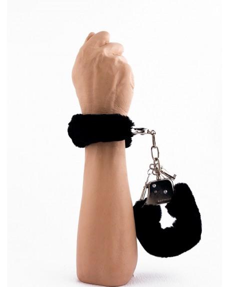 Manette Peluche Love Cuffs Nero