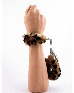 Manette Peluche Love Cuffs Leopardato